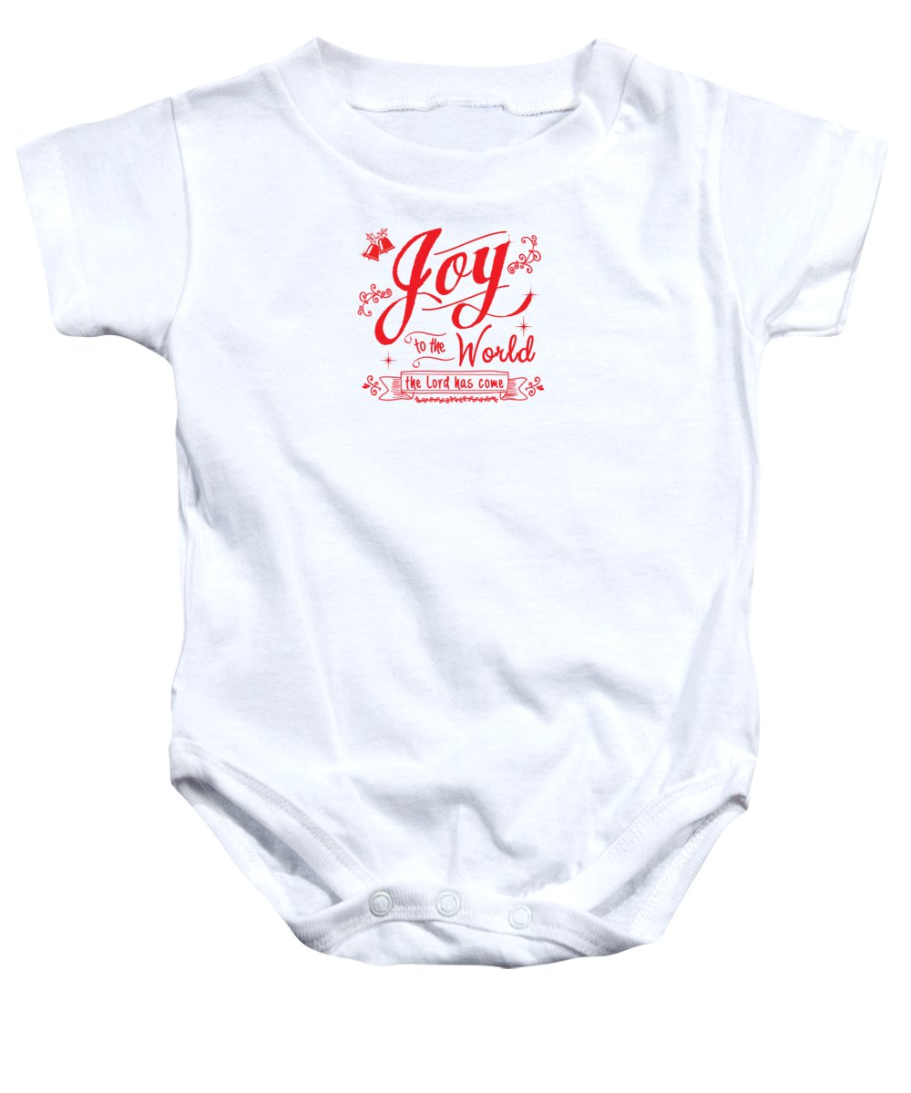 Joy To The World Baby Onesie featuring the digital art Joy To The World by Jan Marvin