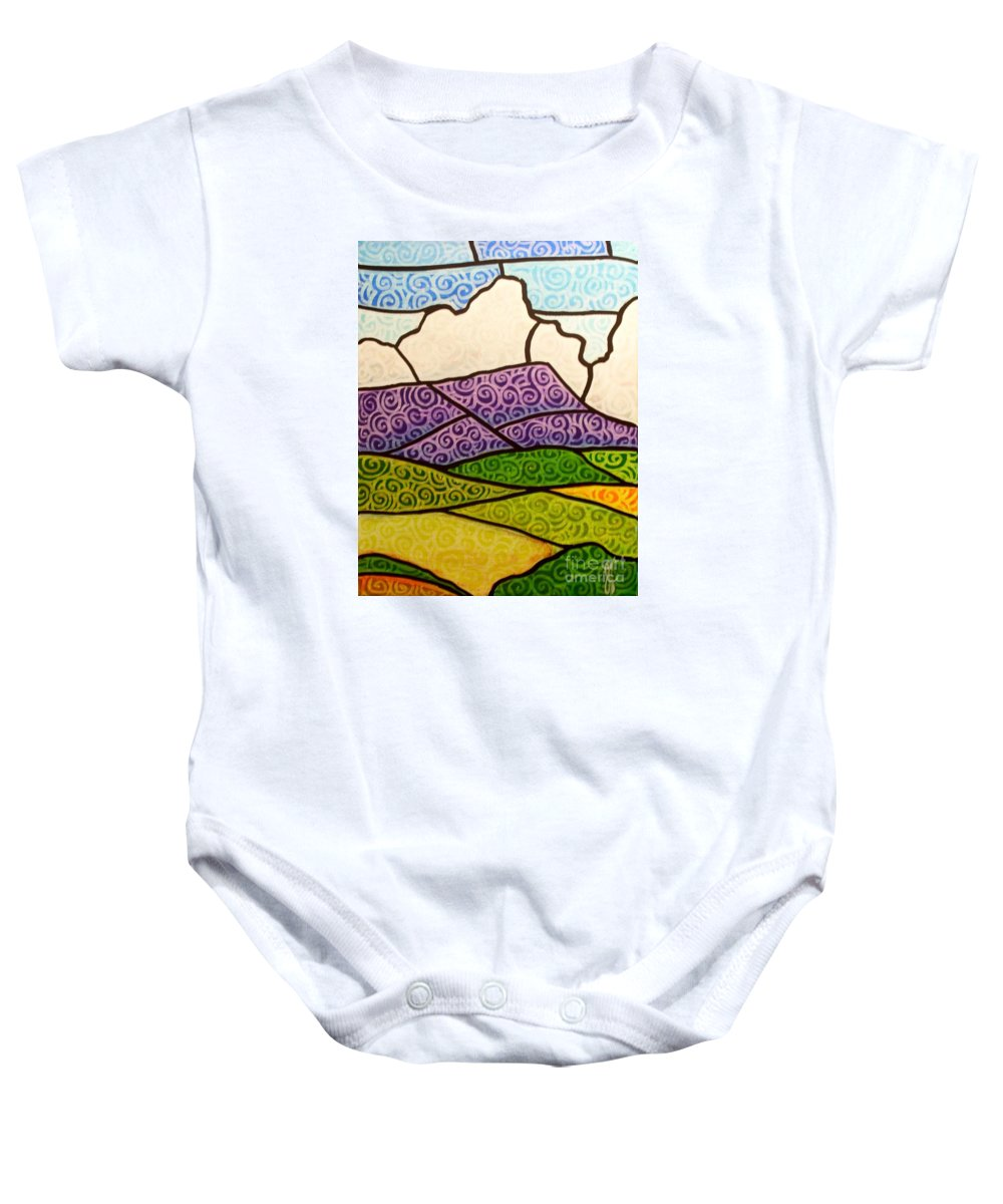 Mountians Baby Onesie featuring the painting Massanutten Peak by Jim Harris