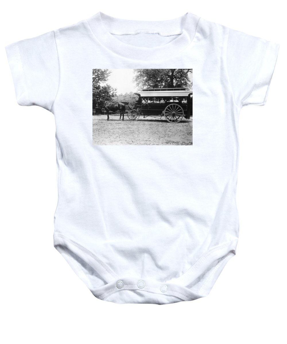 1899 Baby Onesie featuring the photograph Omnibus, C1899 by Granger