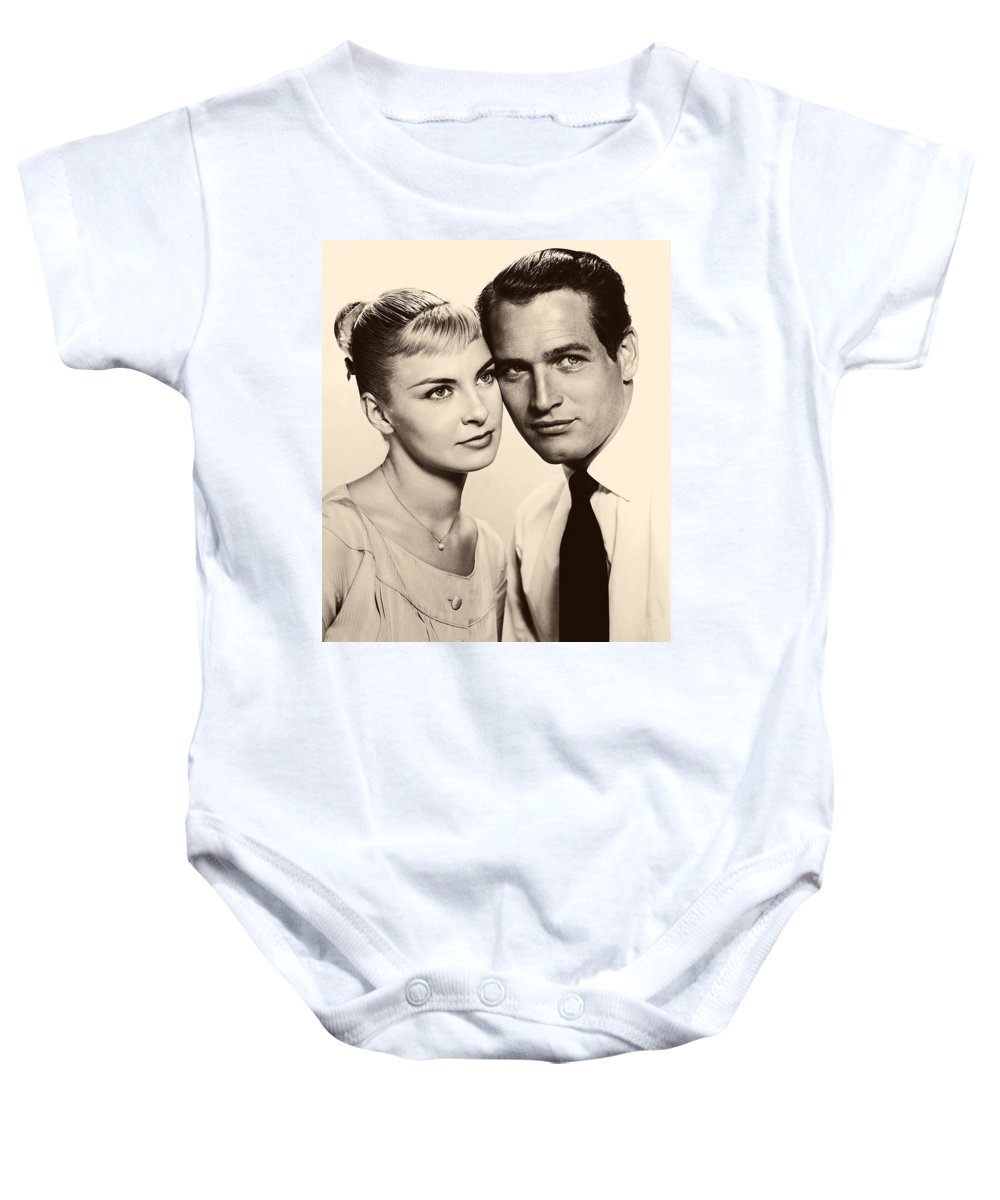 Publicity Photo Baby Onesie featuring the photograph Paul Newman And Joanne Woodward In The Long Hot Summer 1958 by Mountain Dreams