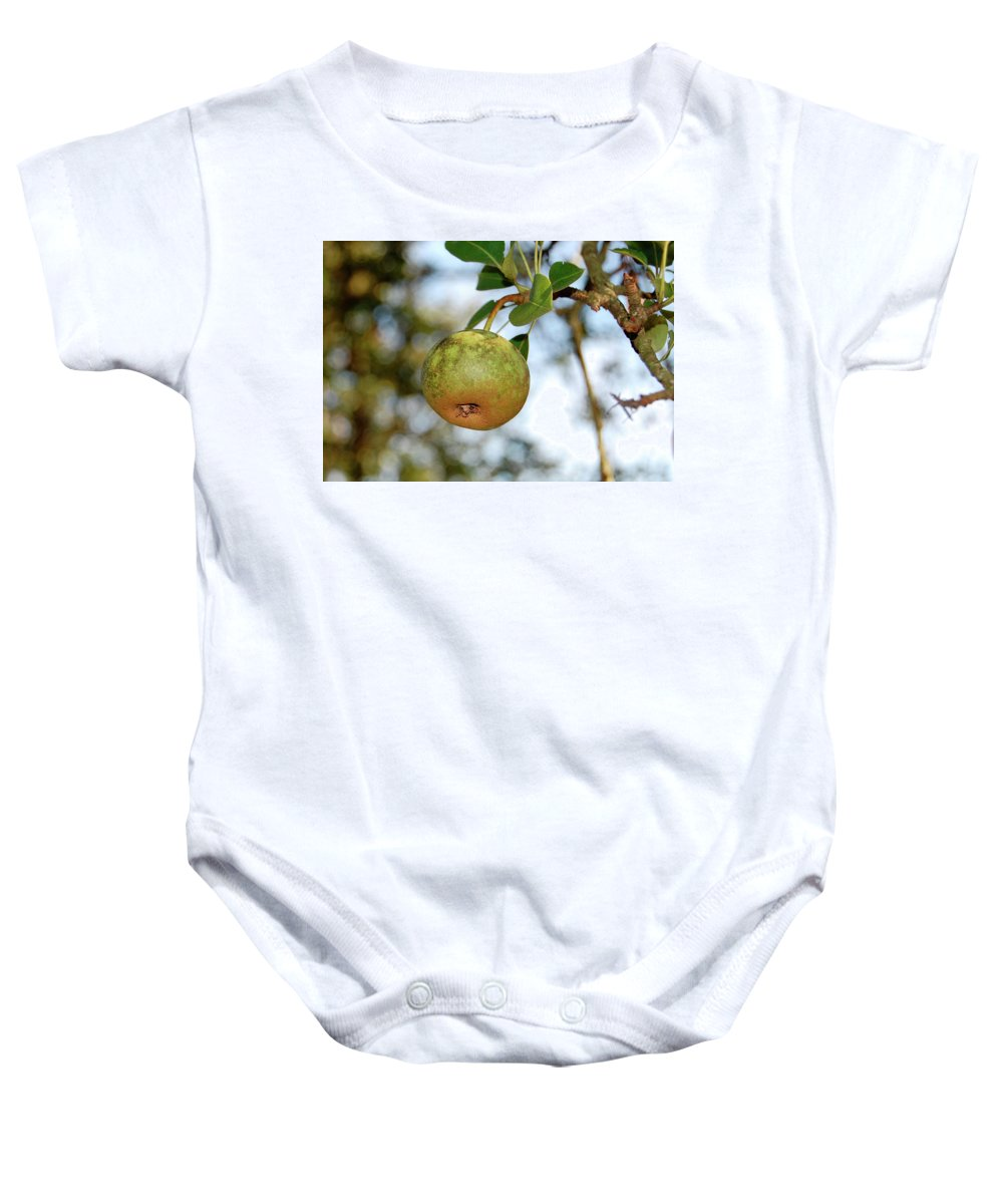 Pear Baby Onesie featuring the photograph Pear by Amber Flowers