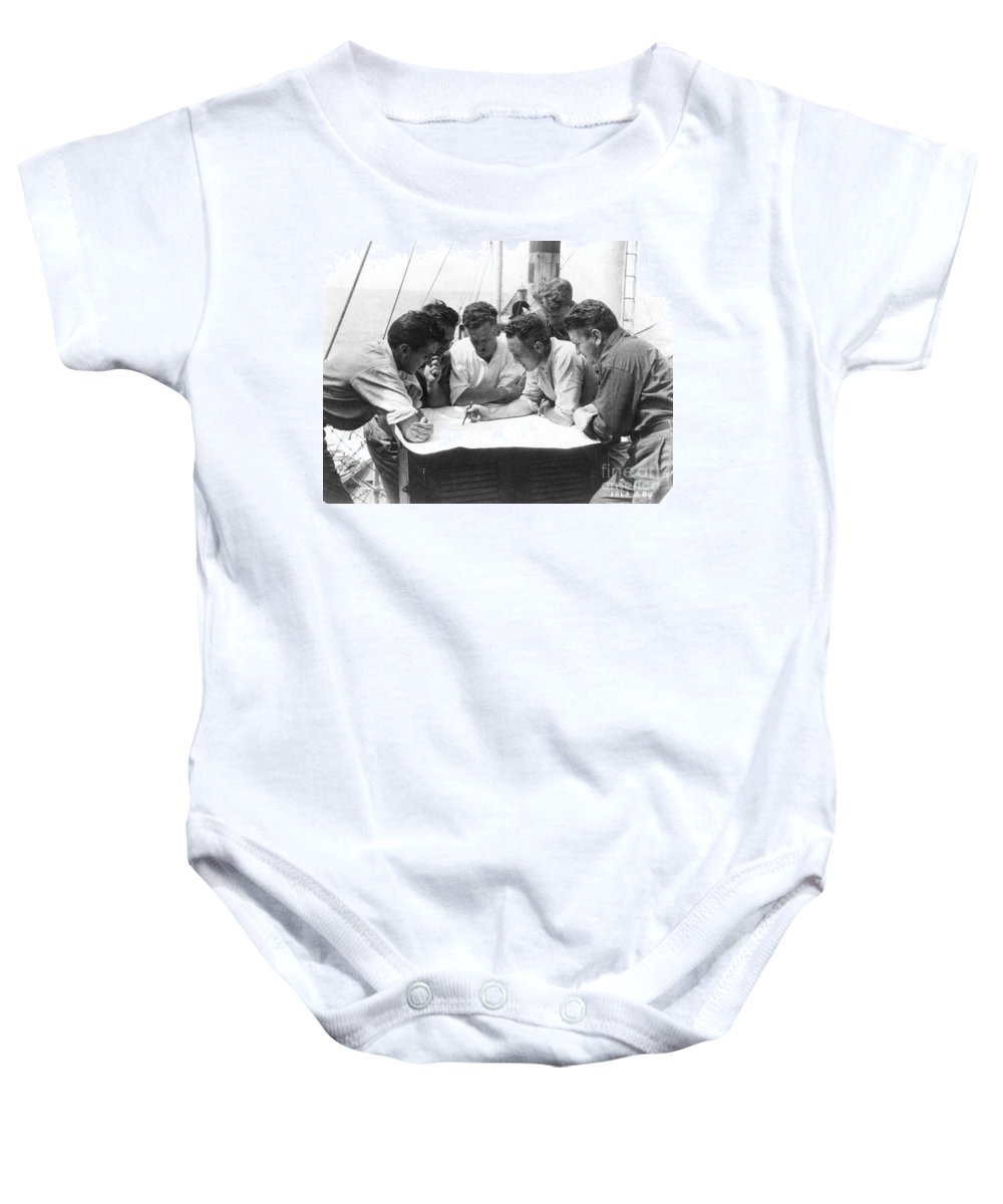 1928 Baby Onesie featuring the painting Richard Evelyn Byrd by Granger