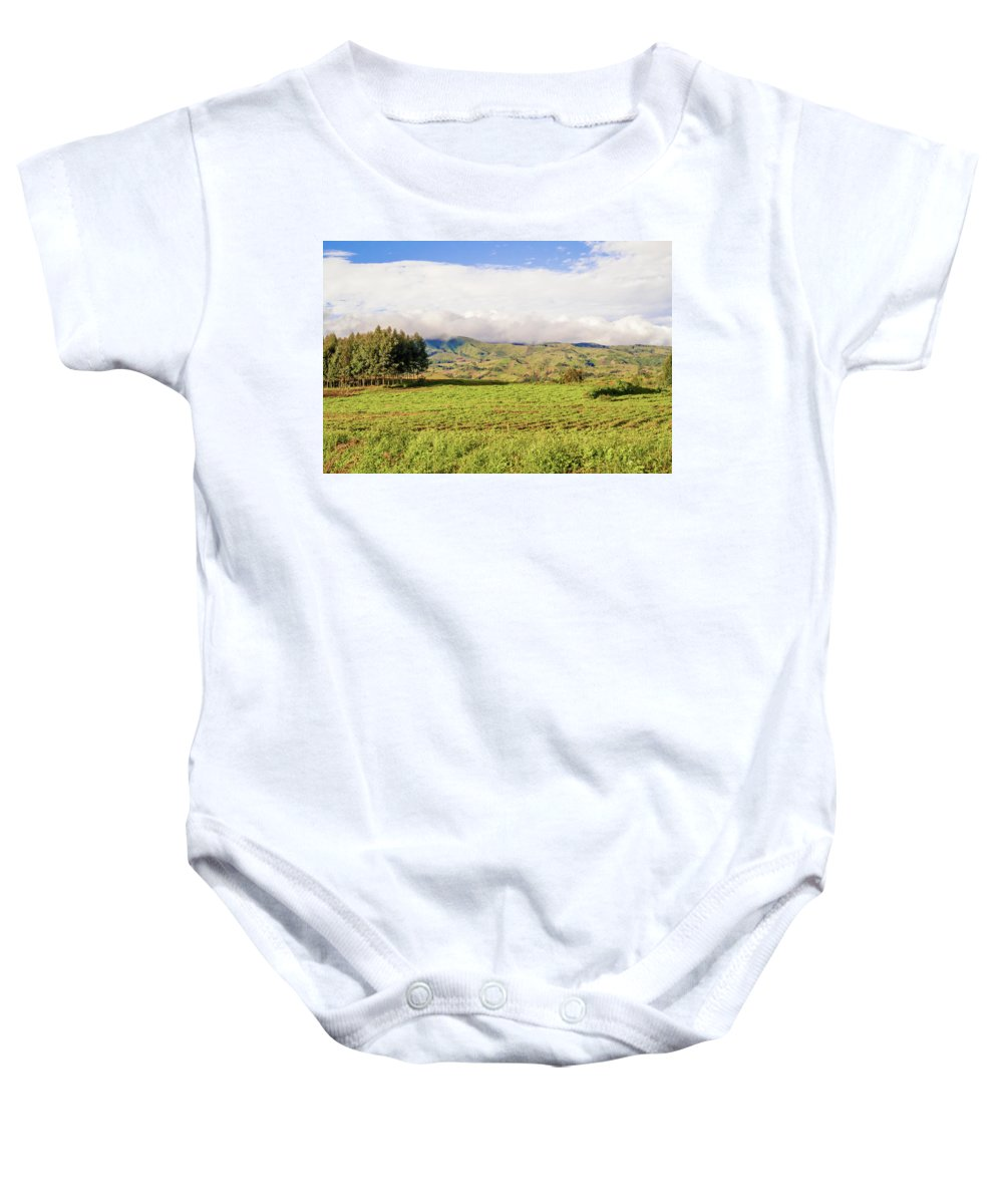 Road Baby Onesie featuring the photograph Rural Landscape Tanzania by Marek Poplawski