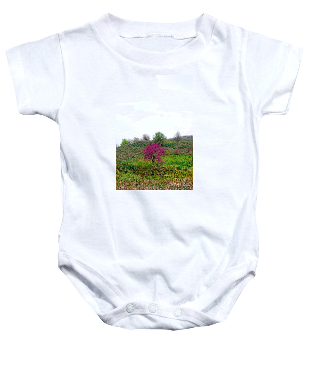 Spring Baby Onesie featuring the photograph Spring Flowers by Artur Gjino