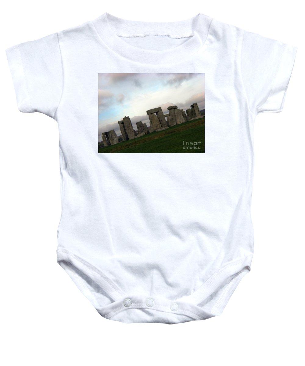 Stonehenge Baby Onesie featuring the photograph Stonehenge by Amanda Barcon