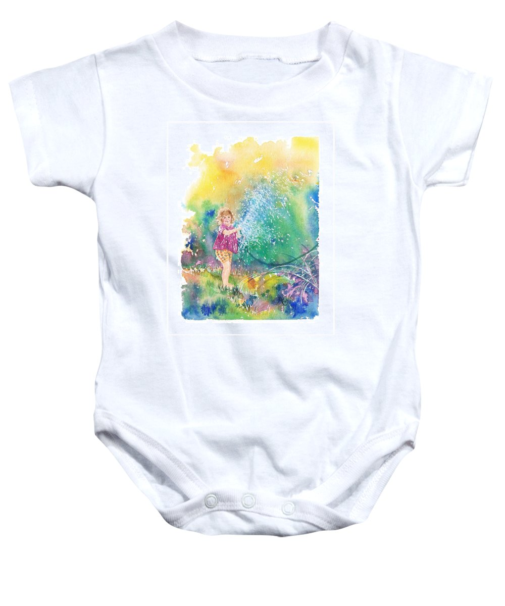 Children Baby Onesie featuring the painting Summer Fun by Gale Cochran-Smith