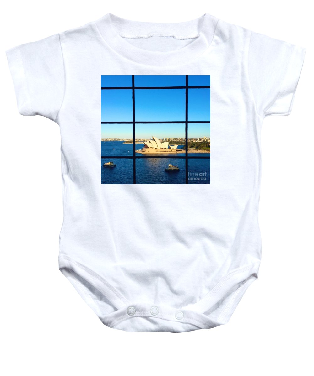 Sydney Baby Onesie featuring the photograph Sydney Opera House by Maddison May