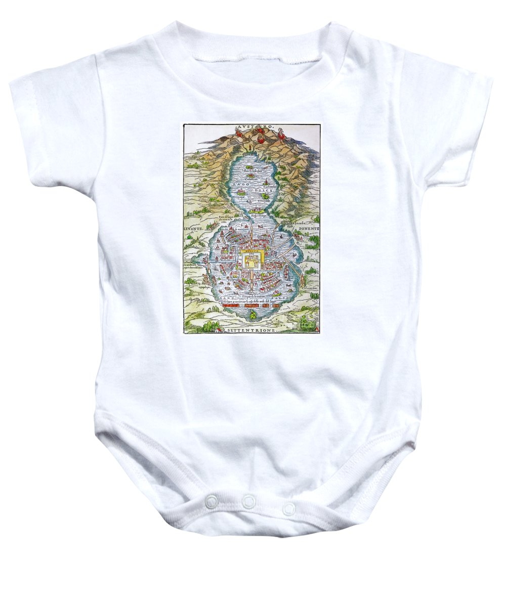 1556 Baby Onesie featuring the photograph Tenochtitlan (mexico City) by Granger
