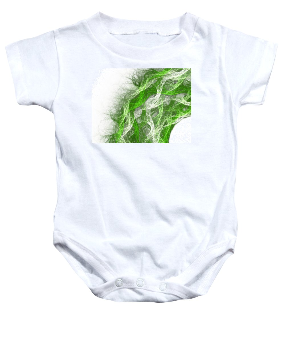Thread Baby Onesie featuring the painting The Thread by Steve K
