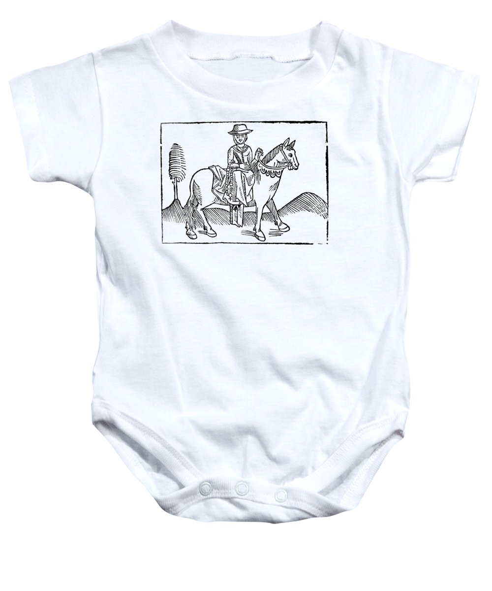 1484 Baby Onesie featuring the photograph The Wife Of Bath by Granger