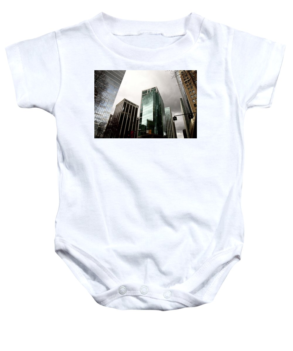 Vancouver Baby Onesie featuring the photograph Vancouver Skyline Canada by Mark Duffy