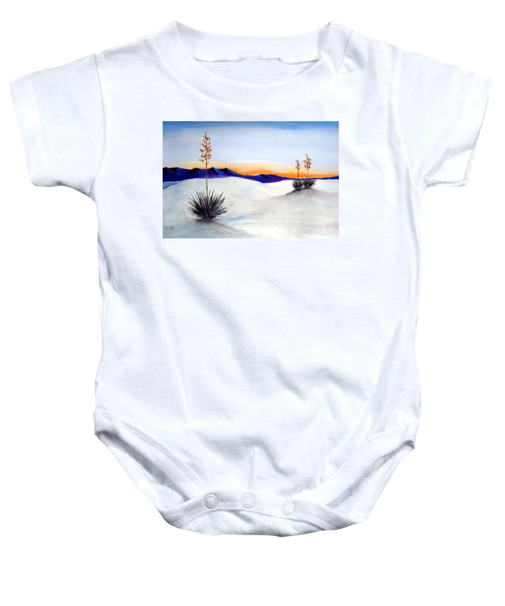 White Sands Baby Onesie featuring the painting White Sands by Melinda Etzold