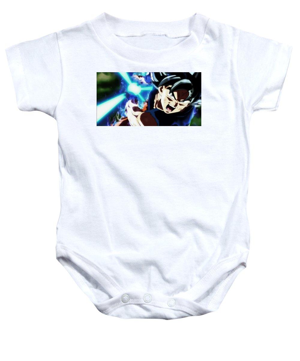 Goku Silver Baby Onesie featuring the digital art Break Through Shell by Kashmiri Lal