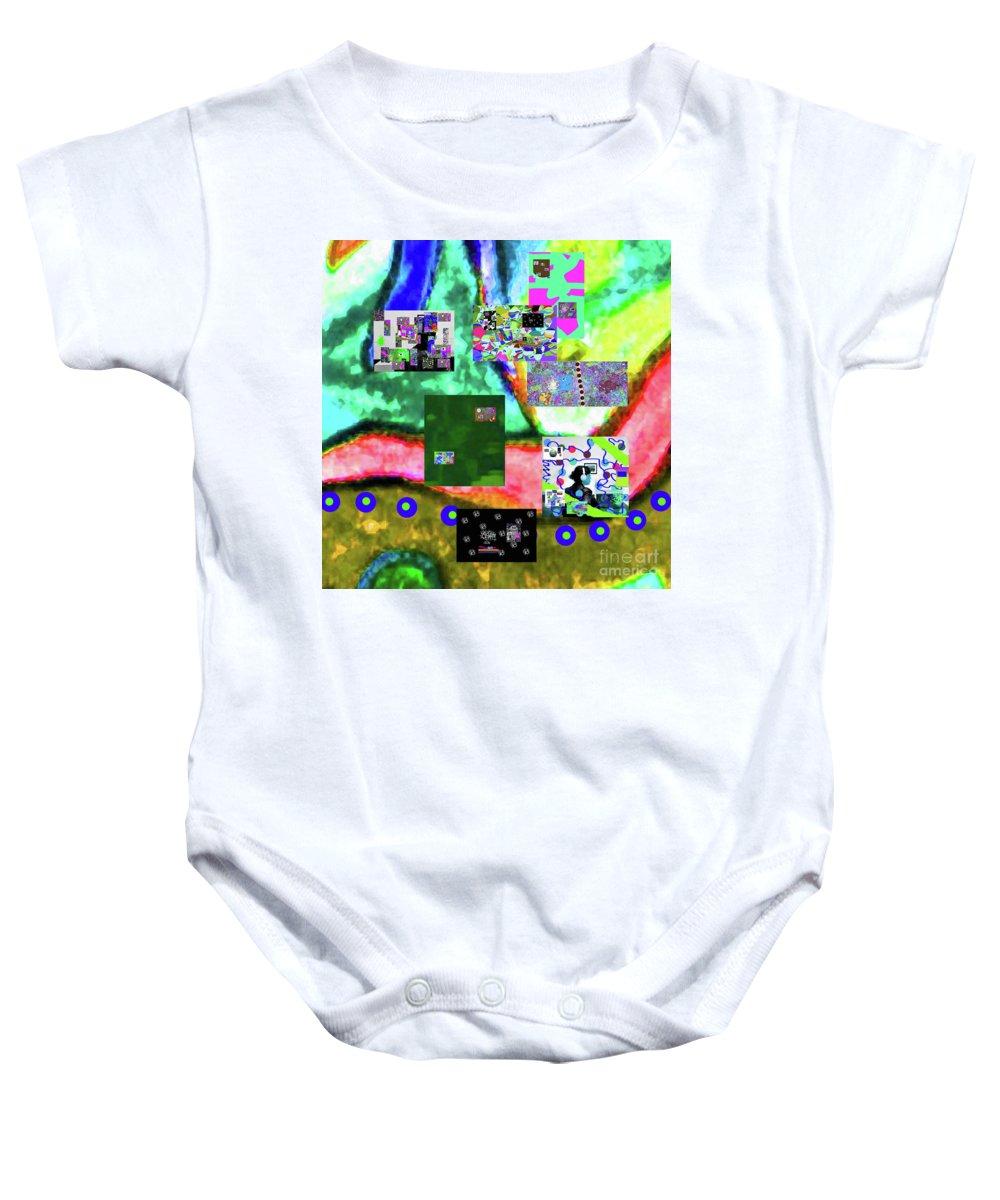 Walter Paul Bebirian Baby Onesie featuring the digital art 11-11-2015abcdefghijklmnopqrtuvwxyzabcdefghijkl by Walter Paul Bebirian
