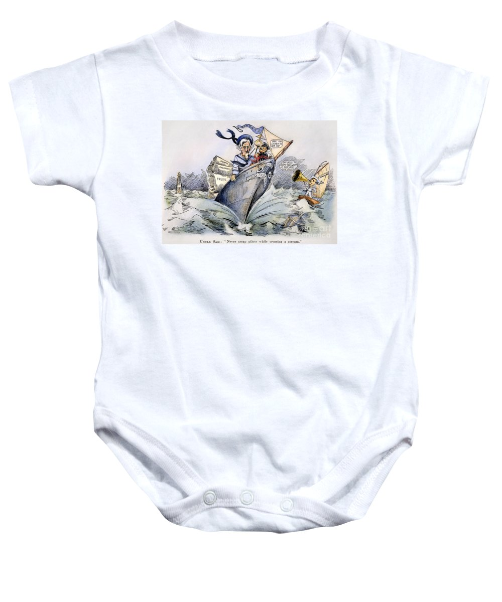 1904 Baby Onesie featuring the photograph Presidential Campaign 1904 by Granger