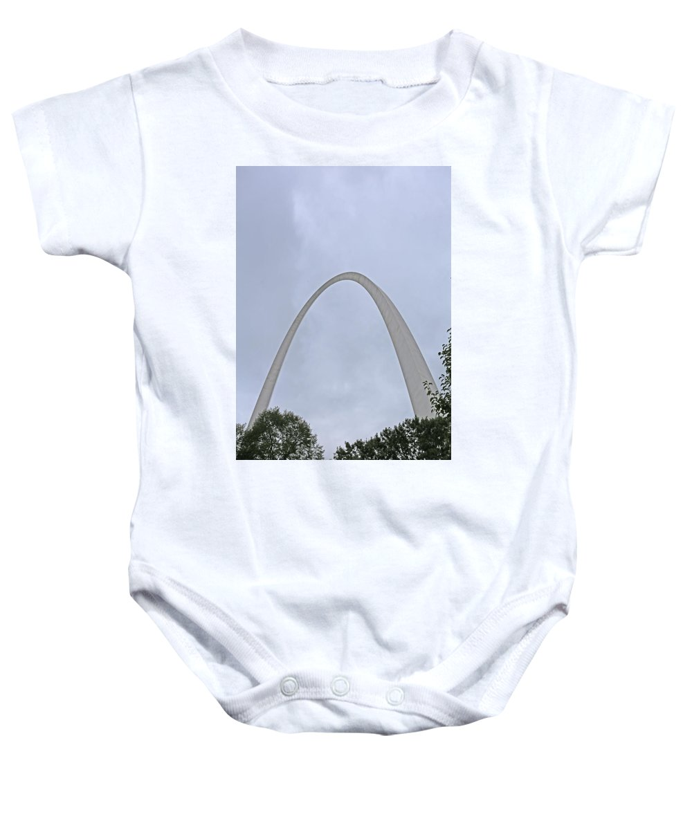 Gateway Arch Baby Onesie featuring the photograph Gateway Arch by Michael Munster