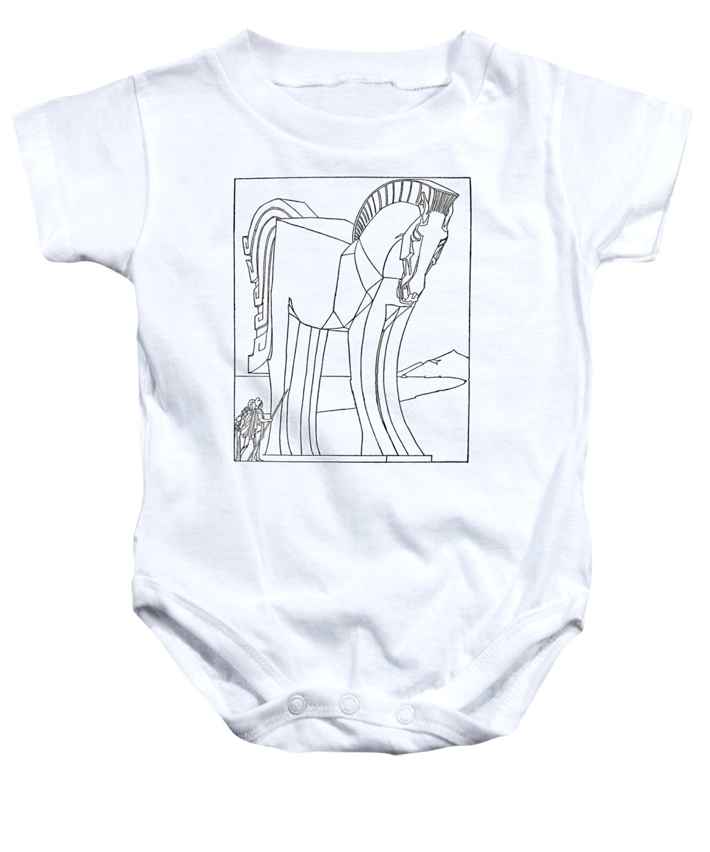 1918 Baby Onesie featuring the photograph Homer: The Iliad by Granger