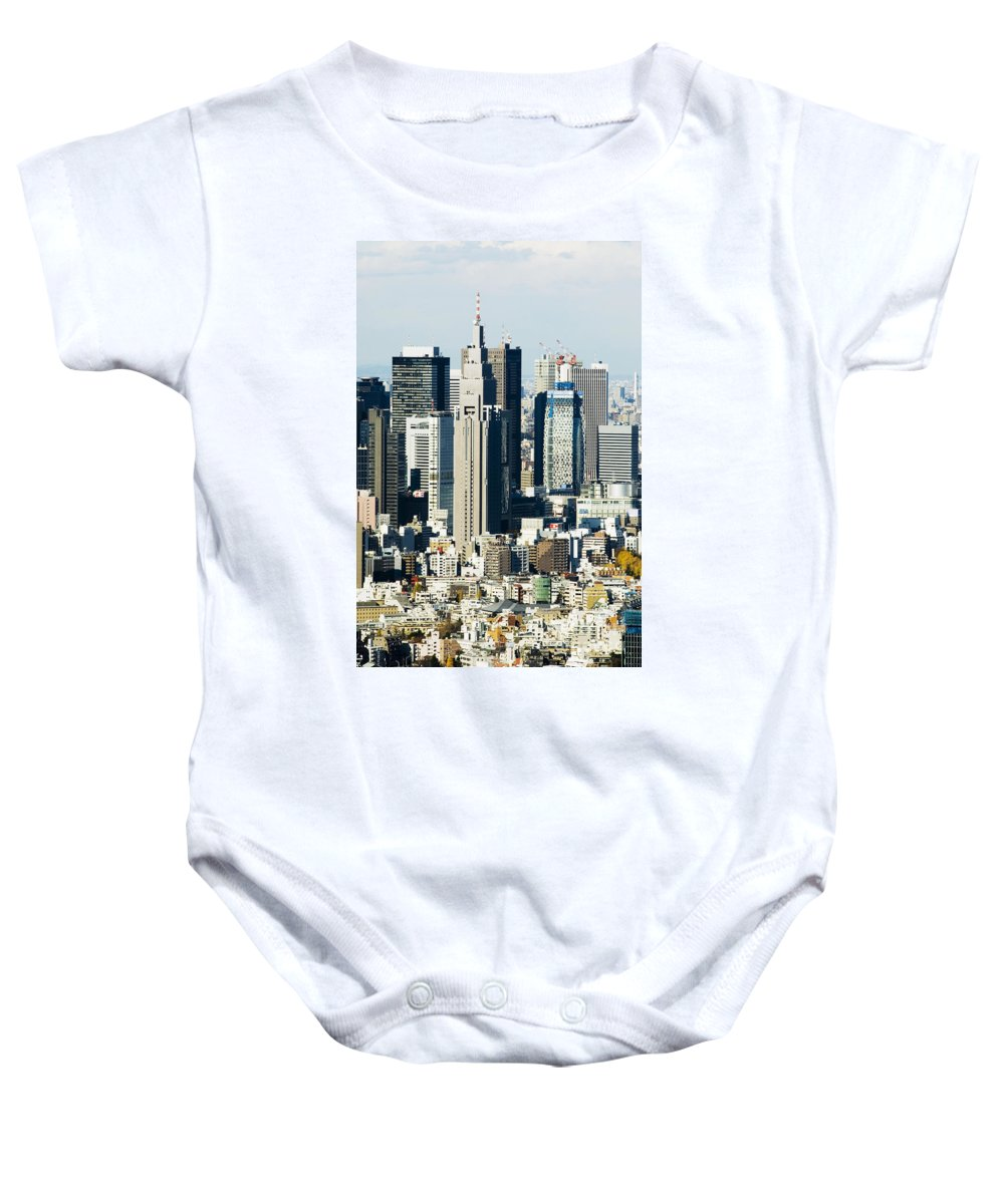 Aerial Baby Onesie featuring the photograph by Bill Brennan - Printscapes