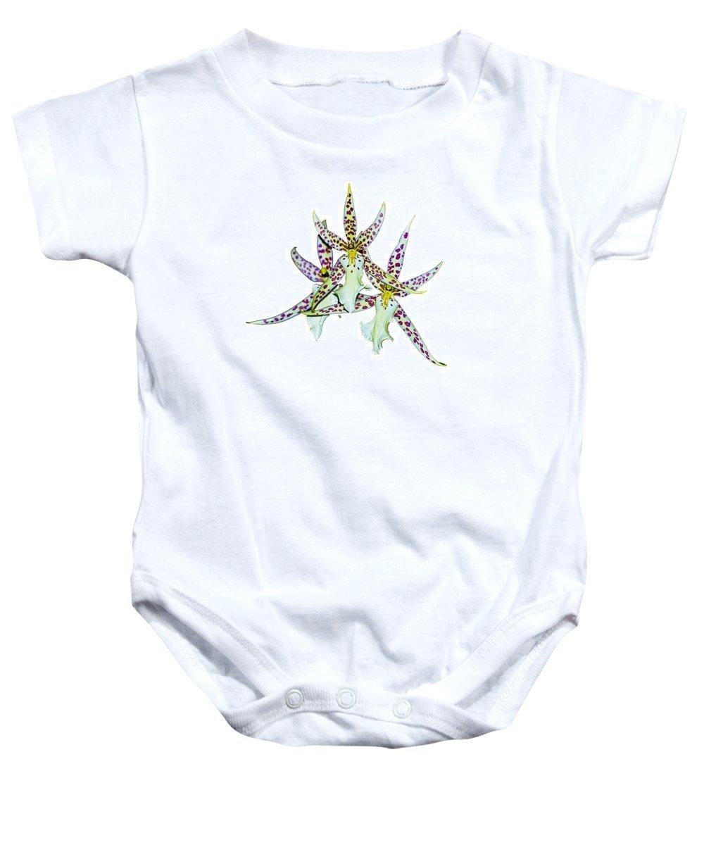 Orquid Baby Onesie featuring the photograph Orquid by Galeria Trompiz