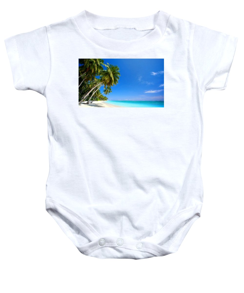 Acrylic Baby Onesie featuring the digital art P G Landscape by Usa Map