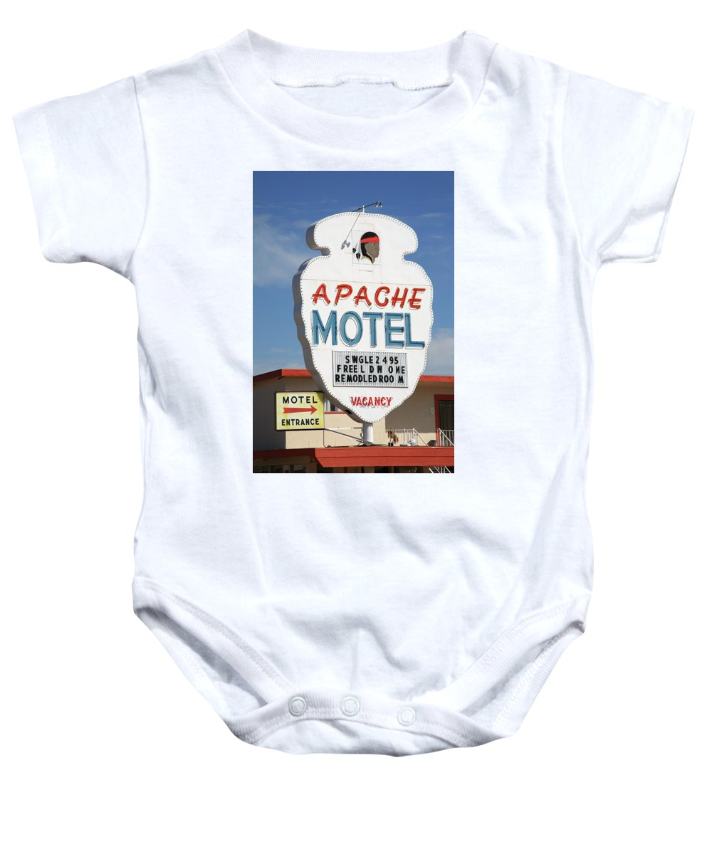 66 Baby Onesie featuring the photograph Route 66 - Tucumcari New Mexico by Frank Romeo