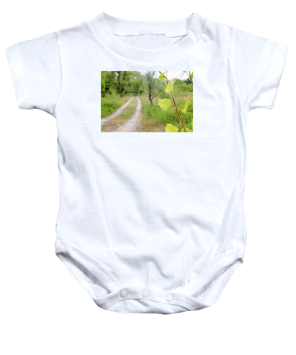 Backlit Baby Onesie featuring the photograph Backlit Green Transparent Leaves Of Tilia Cordata by Alain De Maximy