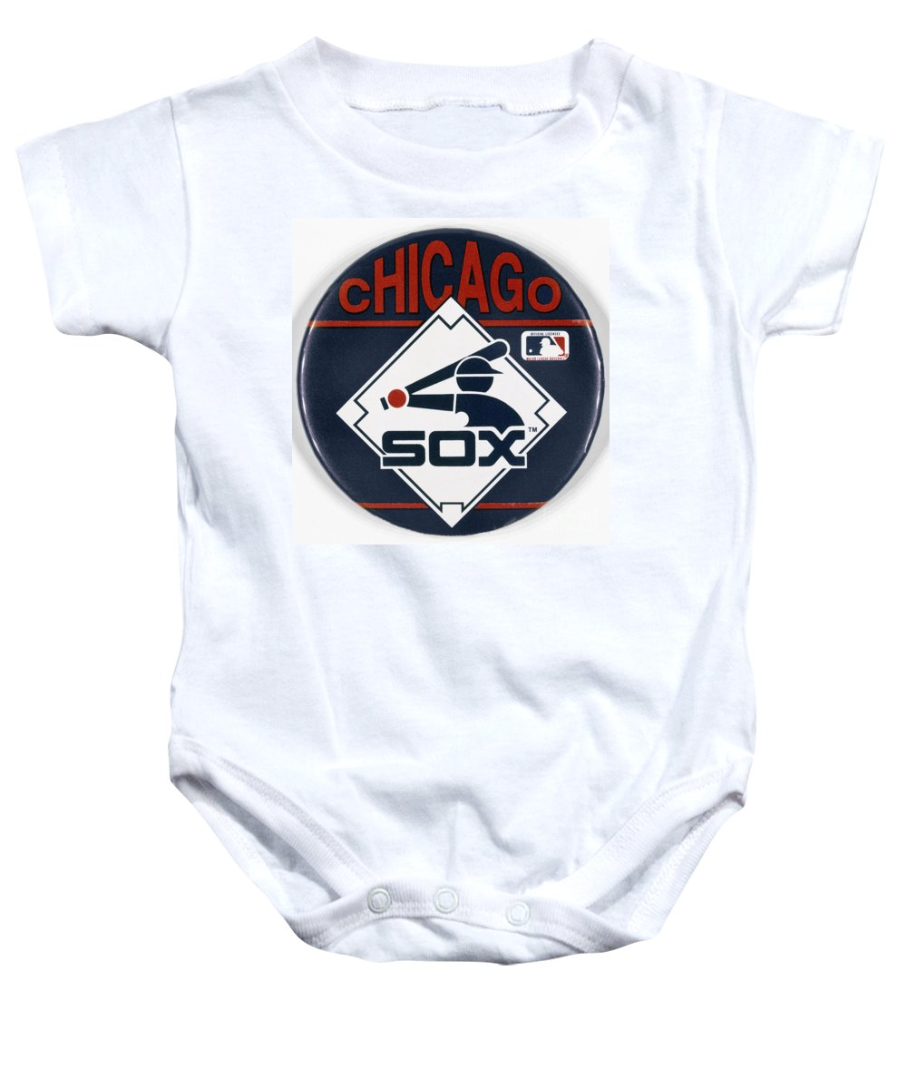 20th Century Baby Onesie featuring the photograph Baseball Button by Granger