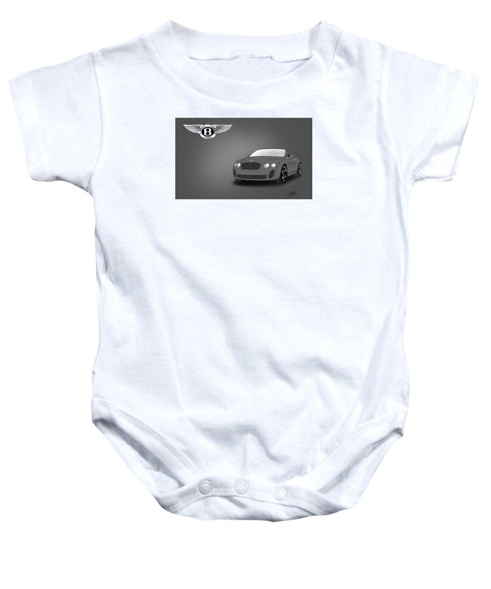 Bentley Baby Onesie featuring the digital art Bentley by Khajohnpan Sauychalad