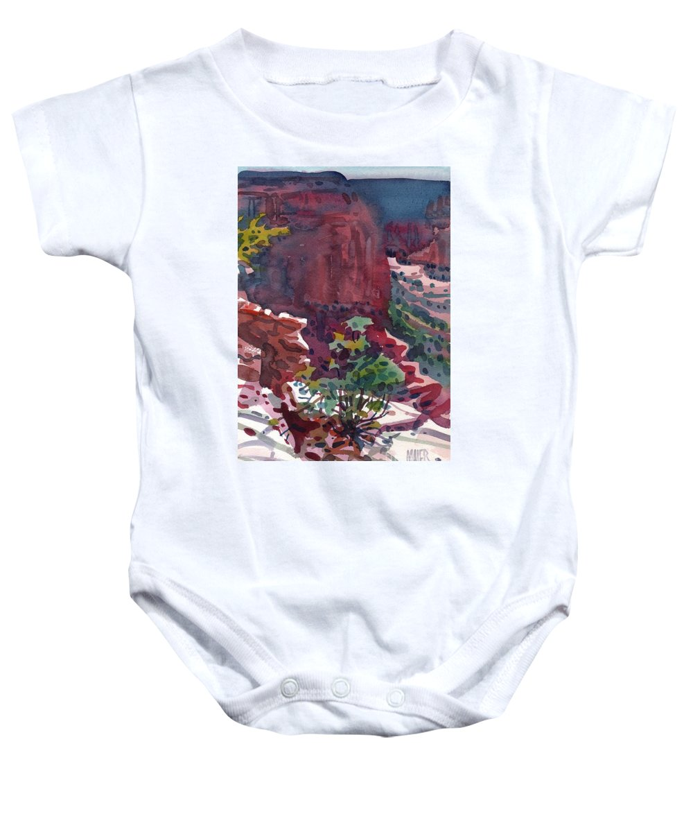 Canyon De Chelly Baby Onesie featuring the painting Canyon View by Donald Maier
