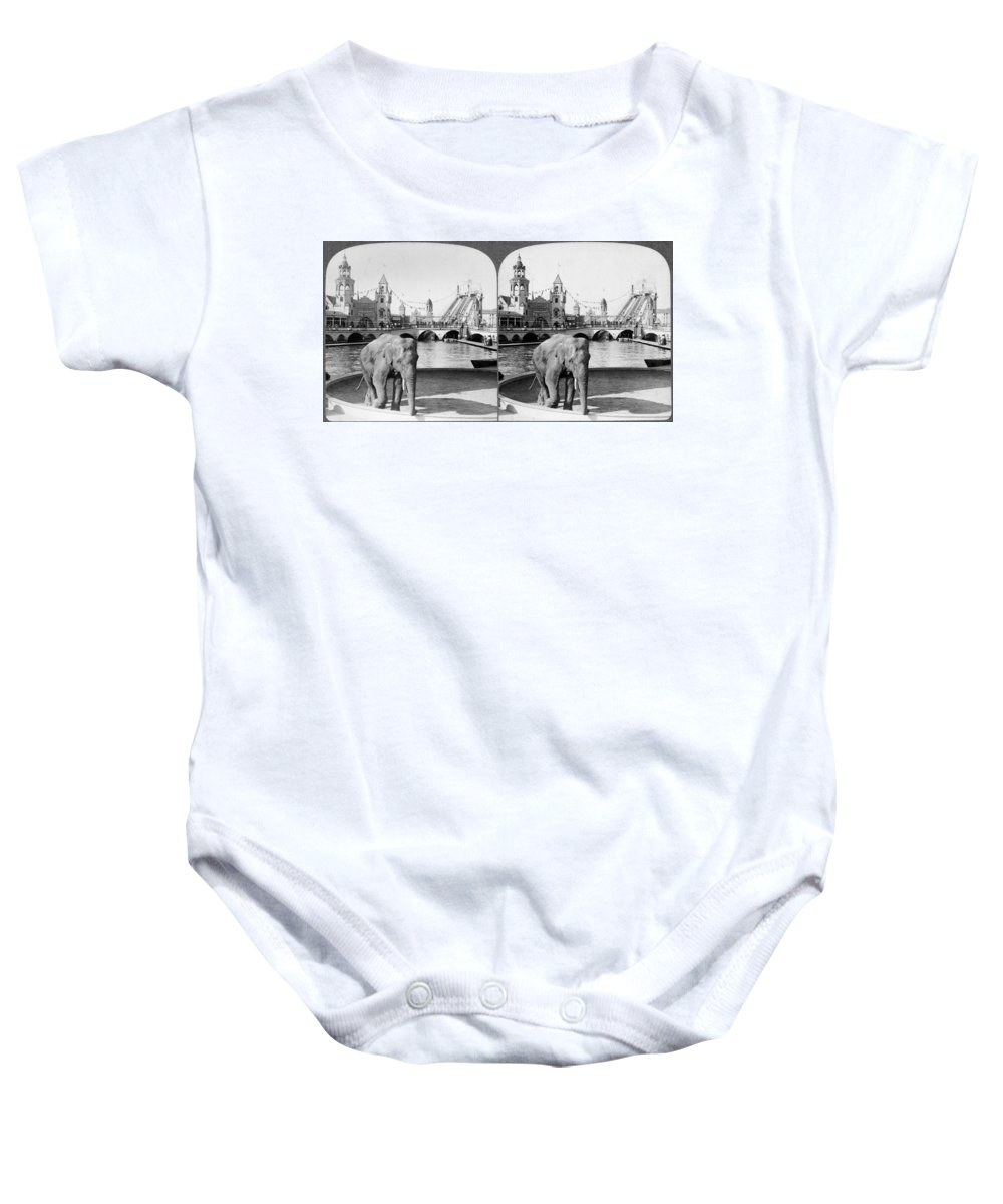 1904 Baby Onesie featuring the photograph Coney Island: Luna Park by Granger