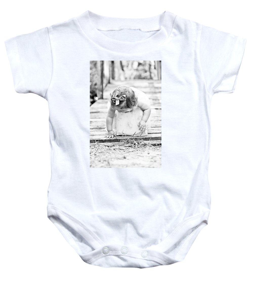 Child Baby Onesie featuring the photograph Discovery by Scott Pellegrin