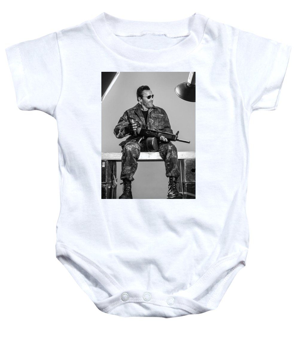 Expendables 3 2014 Baby Onesie featuring the digital art Expendables 3 2014 by Geek N Rock