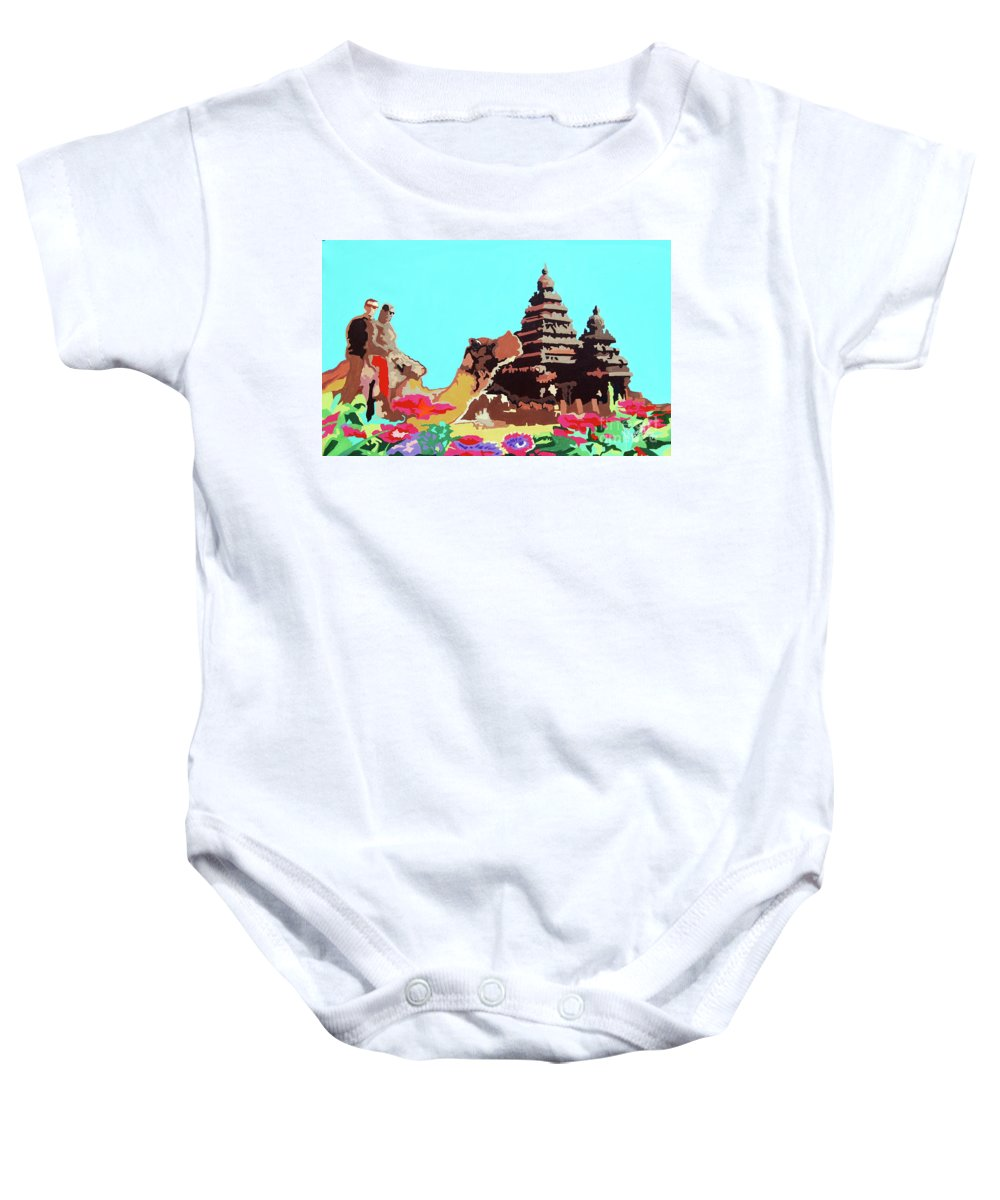 Landscape Painting Baby Onesie featuring the painting Happy Journey by Ragunath Venkatraman