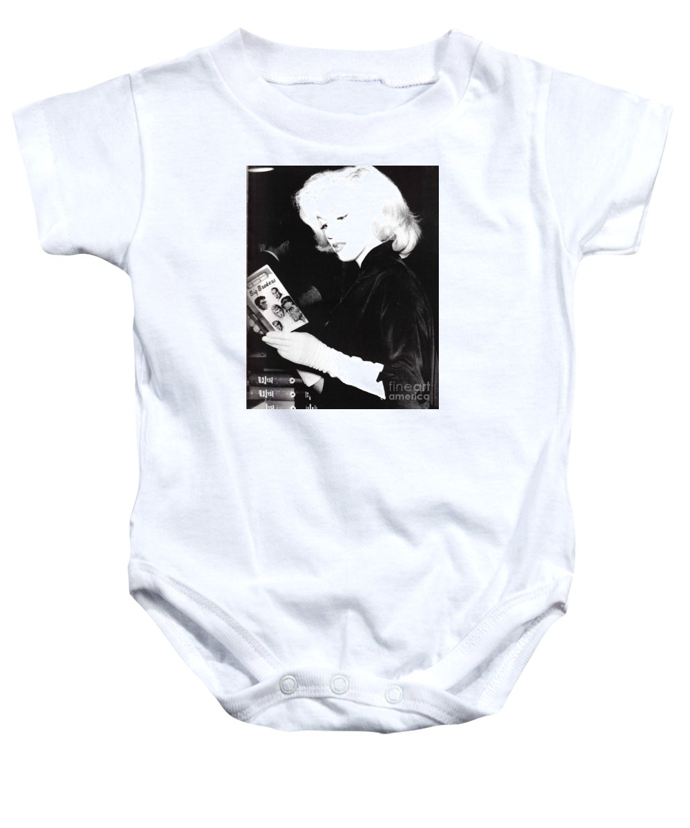 Baby Onesie featuring the photograph Marilyn Monroe by Marilyn Monroe