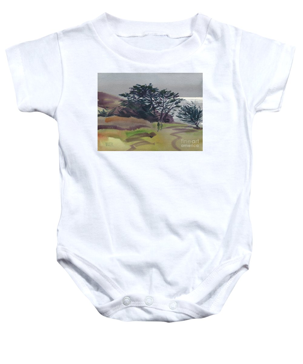 Plein Air Baby Onesie featuring the painting Miramonte Point 1 by Donald Maier
