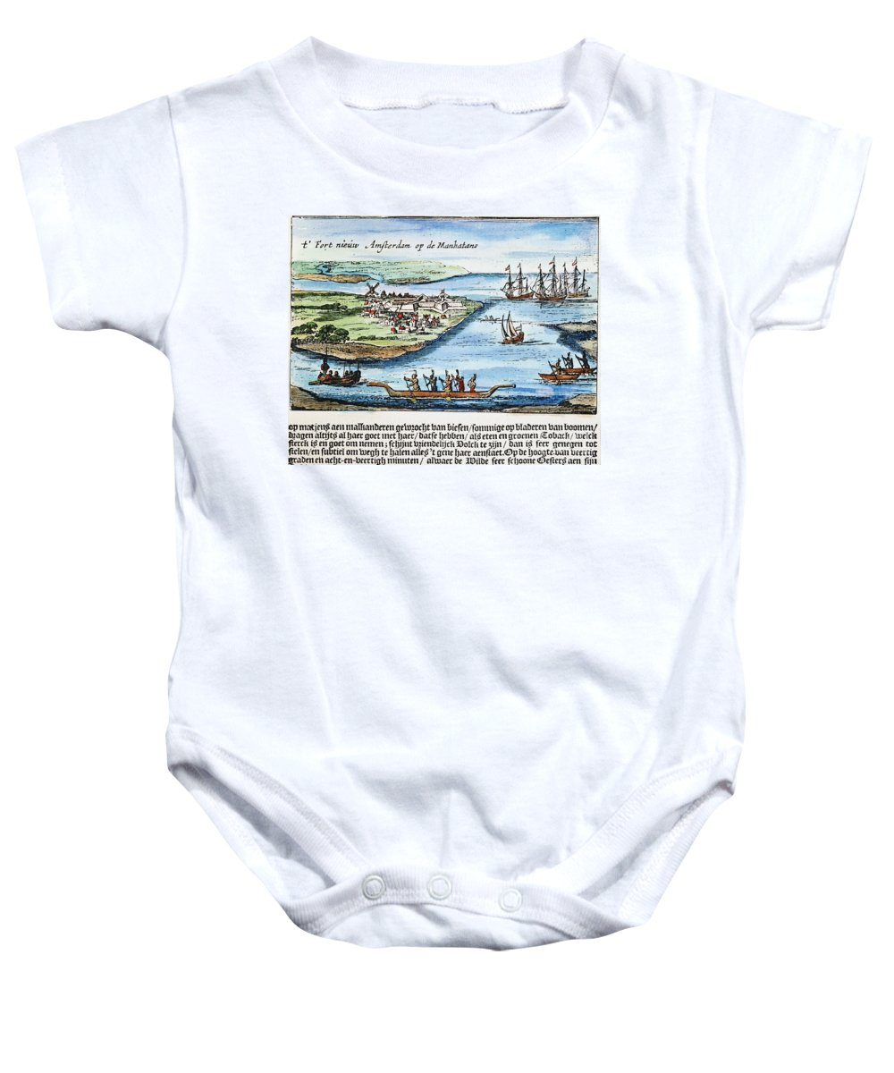 1651 Baby Onesie featuring the photograph New Amsterdam by Granger