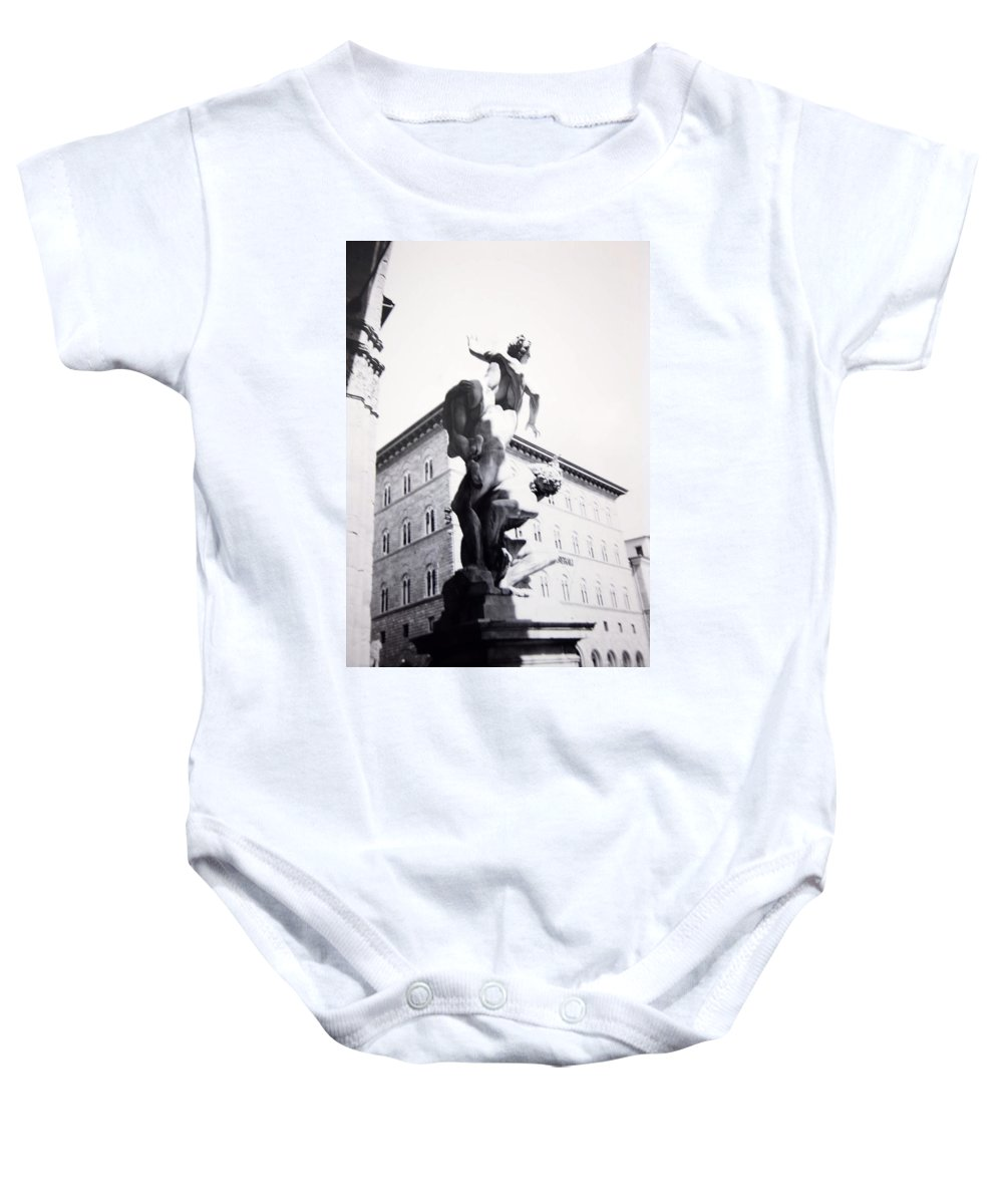 Florence Baby Onesie featuring the photograph Palazzo Vecchio by Kurt Hausmann