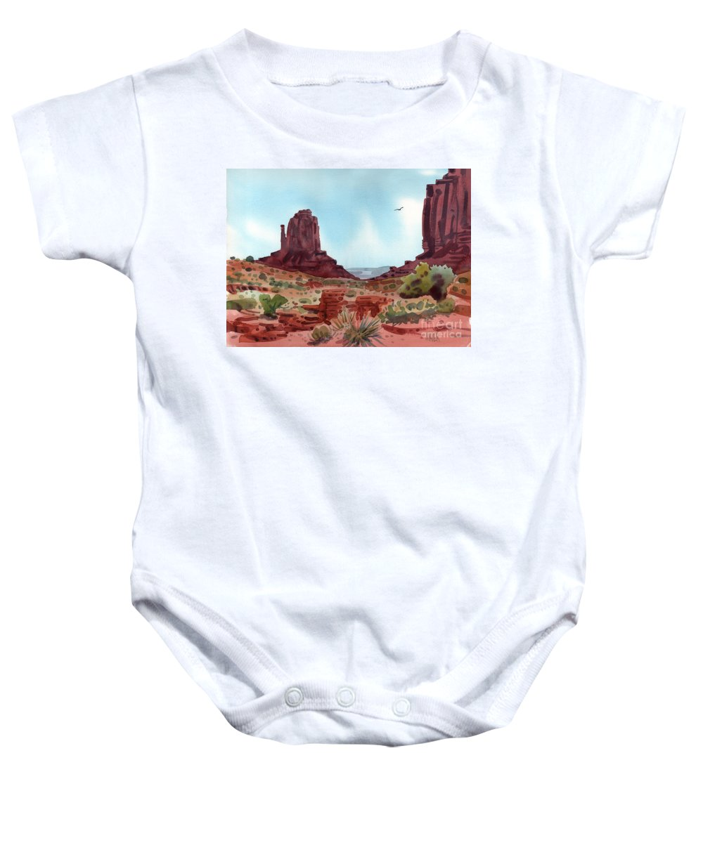 Right Mitten Baby Onesie featuring the painting Right Mitten by Donald Maier
