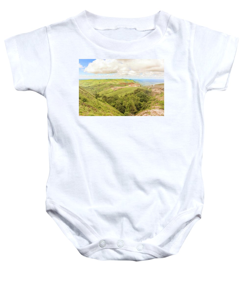 Picturesque Baby Onesie featuring the photograph Road Landscape In Tanzania by Marek Poplawski