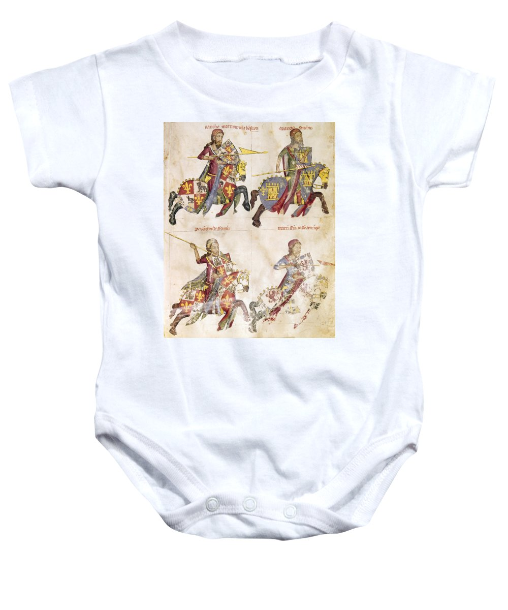 1350 Baby Onesie featuring the photograph Spain: Knights, C1350 by Granger
