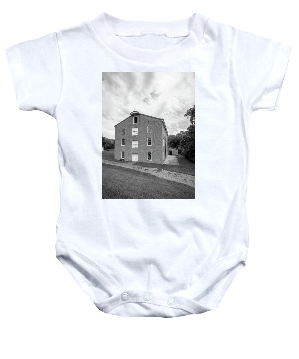 Watkins Woolen Mill State Park And State Historic Site Baby Onesie featuring the photograph Watkins Woolen Mill State Park And State Historic Site by Michael Munster