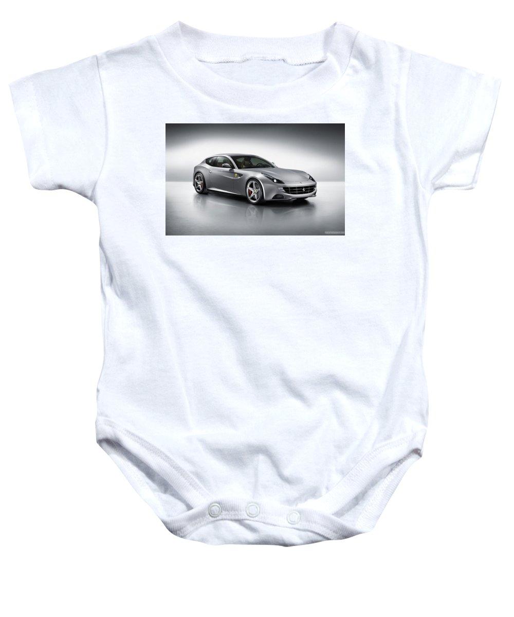 Baby Onesie featuring the digital art 2012 Ferrari Ff 3 by Alice Kent