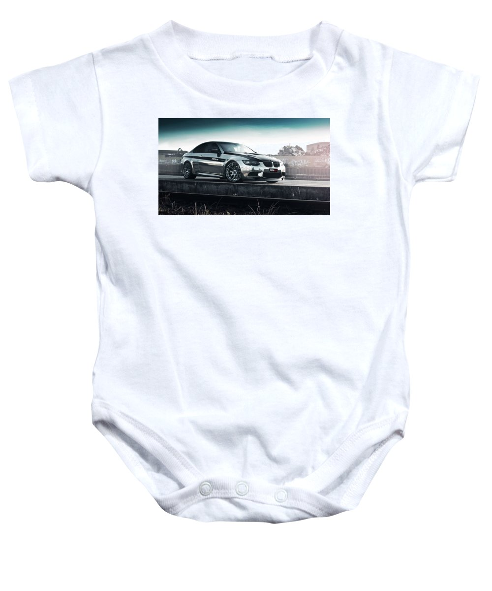 Baby Onesie featuring the digital art 2016 Fostla De Bmw M3 Coupe 2 by Alice Kent