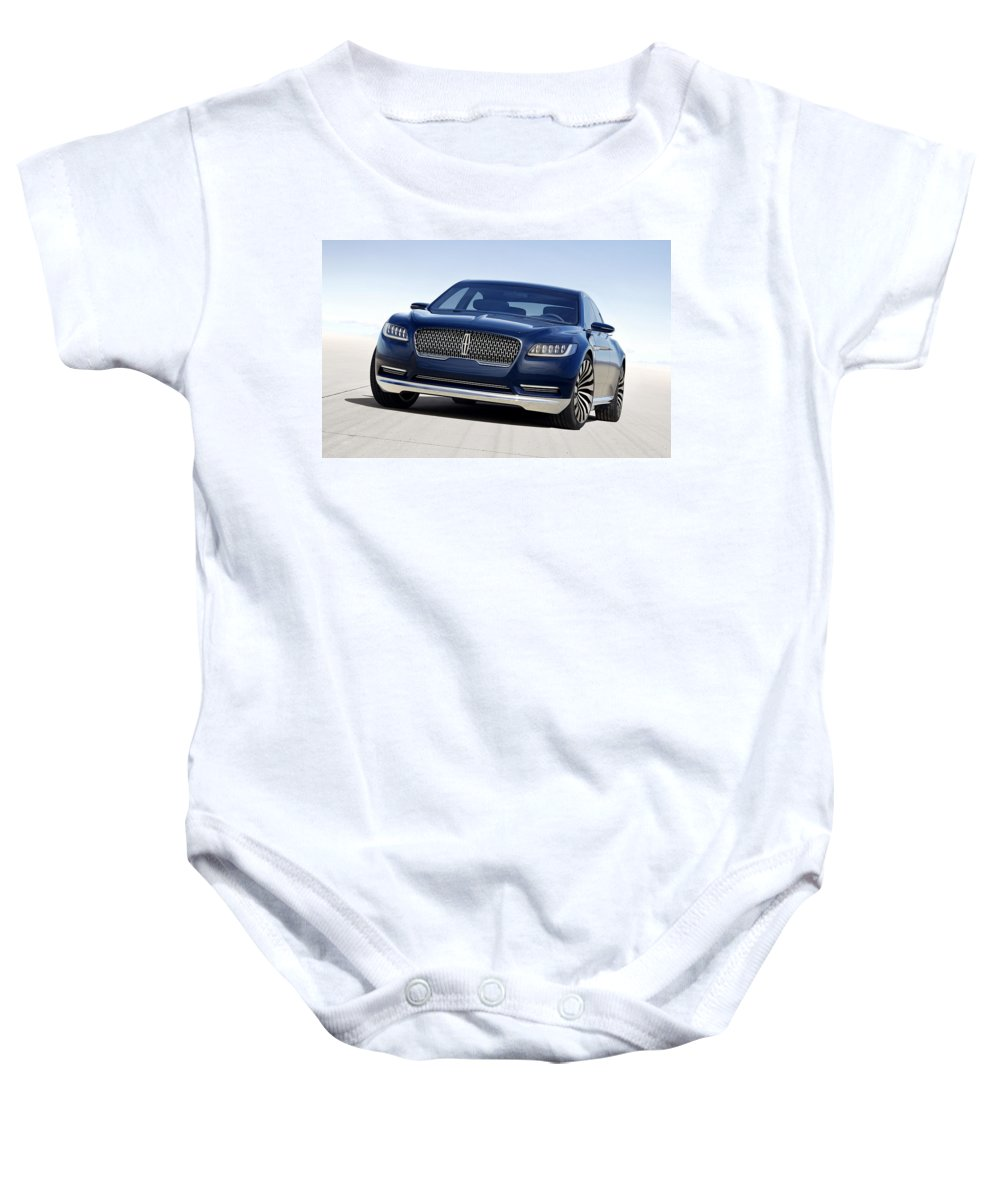 Baby Onesie featuring the digital art 2016 Lincoln Continental Concept by Alice Kent