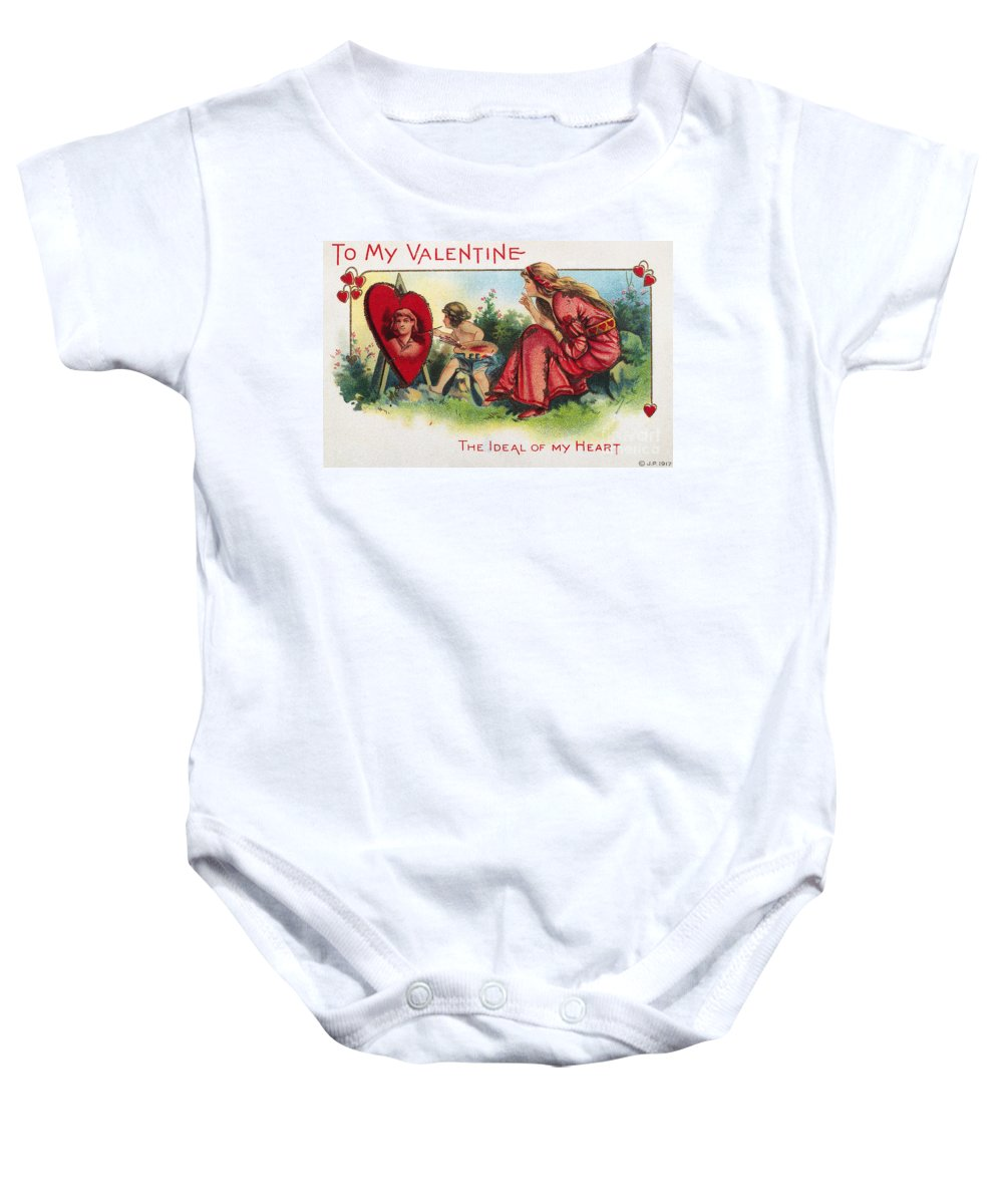 1917 Baby Onesie featuring the photograph Valentines Day Card by Granger