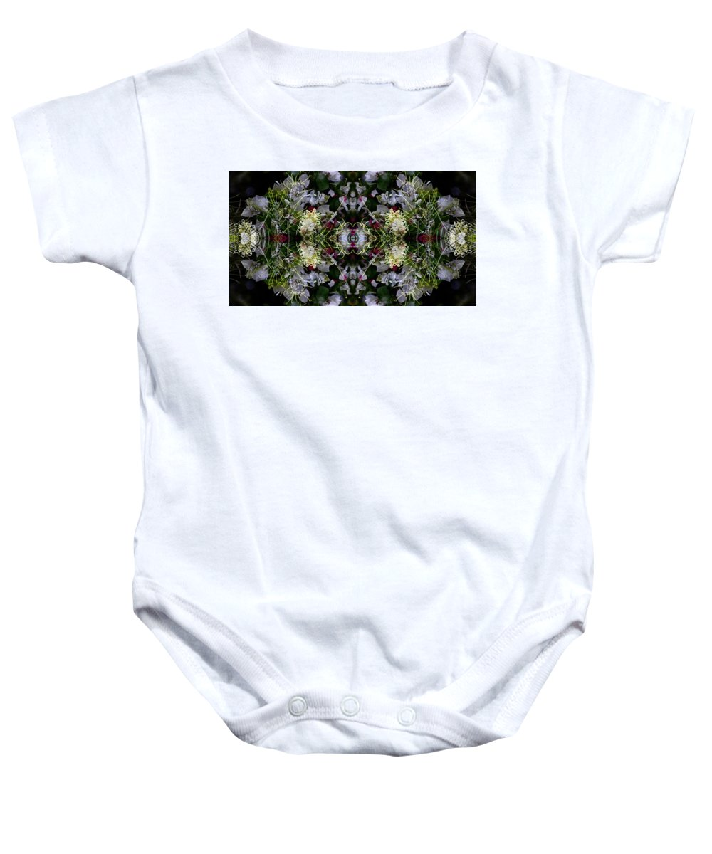 Lavender Baby Onesie featuring the photograph Wormhole Mandala by Daniel Unfried
