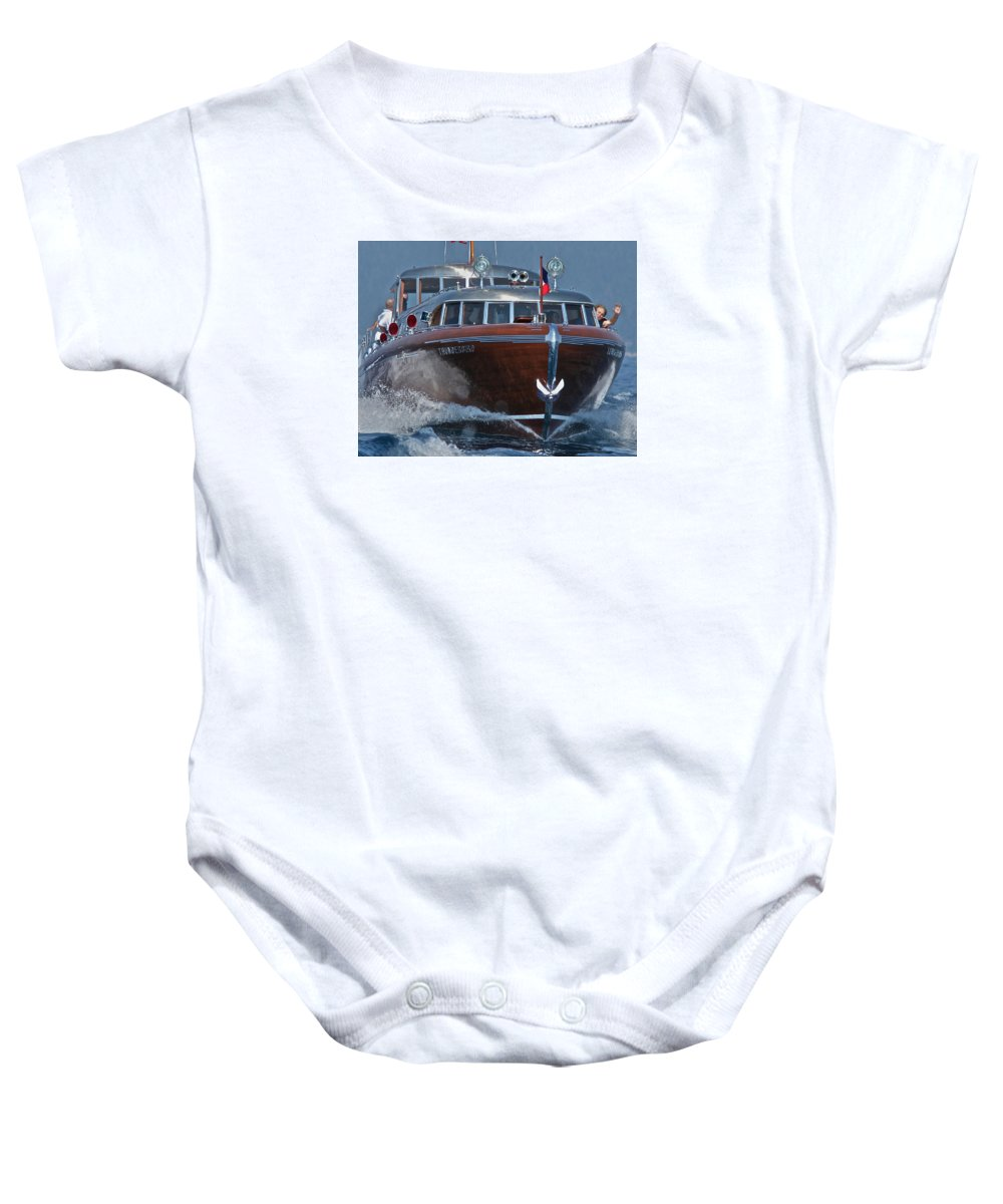 Tahoe Baby Onesie featuring the photograph Thunderbird by Steven Lapkin