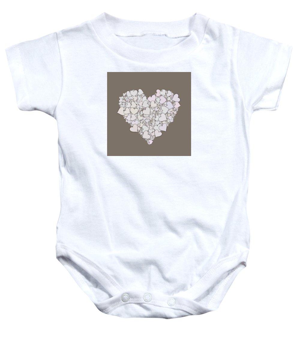 Heart Baby Onesie featuring the digital art Love Heart Valentine Shape by Miroslav Nemecek