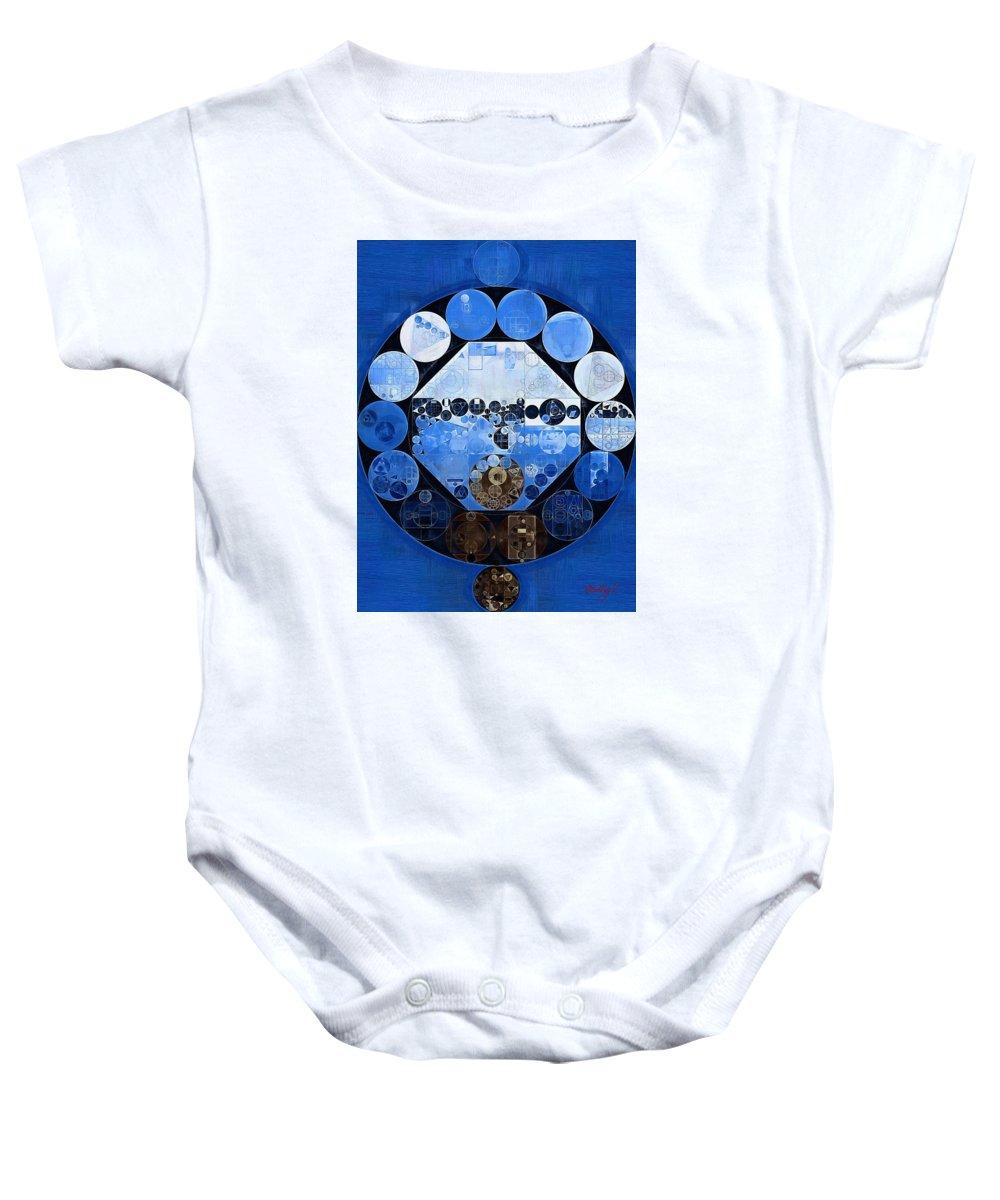 Circle Baby Onesie featuring the digital art Abstract Painting - Yale Blue by Vitaliy Gladkiy