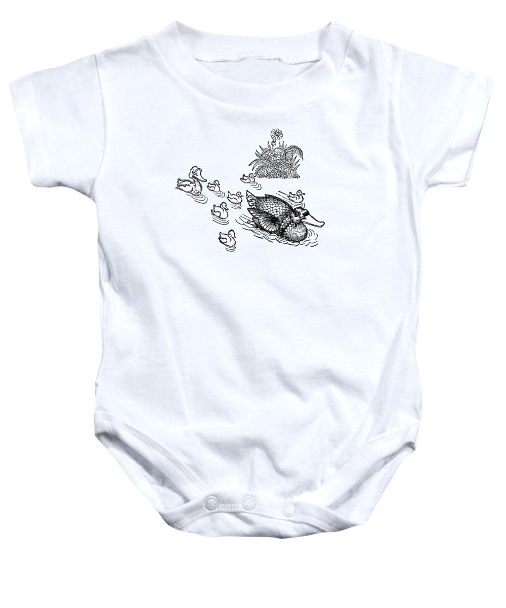 19th Century Baby Onesie featuring the photograph Andersen: Ugly Duckling by Granger